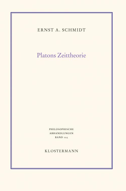 Platons Zeittheorie cover