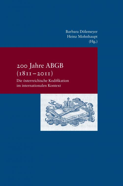 200 Jahre ABGB cover