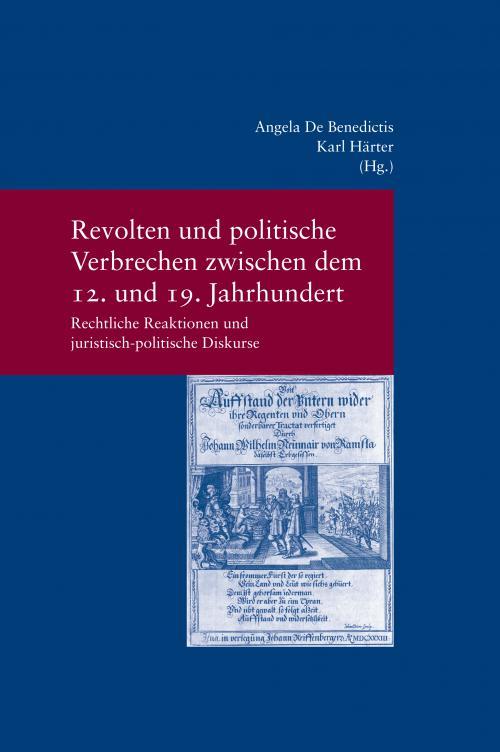 Revolten und politische Verbrechen zwischen dem 12. und 19. Jahrhundert cover