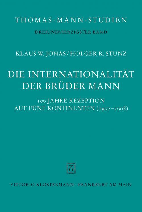 Die Internationalität der Brüder Mann cover