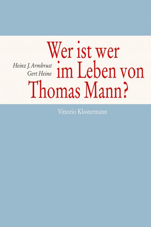 Wer ist wer im Leben von Thomas Mann? cover