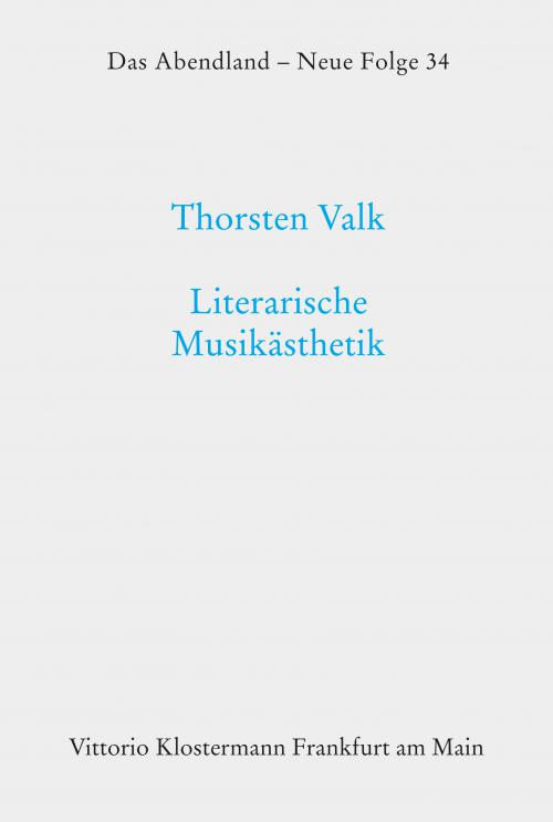Literarische Musikästhetik cover