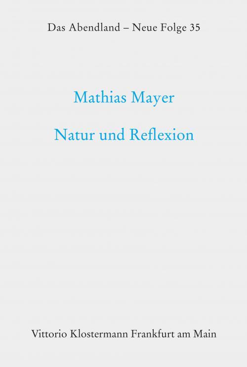 Natur und Reflexion. Studien zu Goethes Lyrik cover