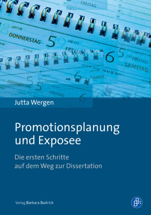 Promotionsplanung und Exposee cover