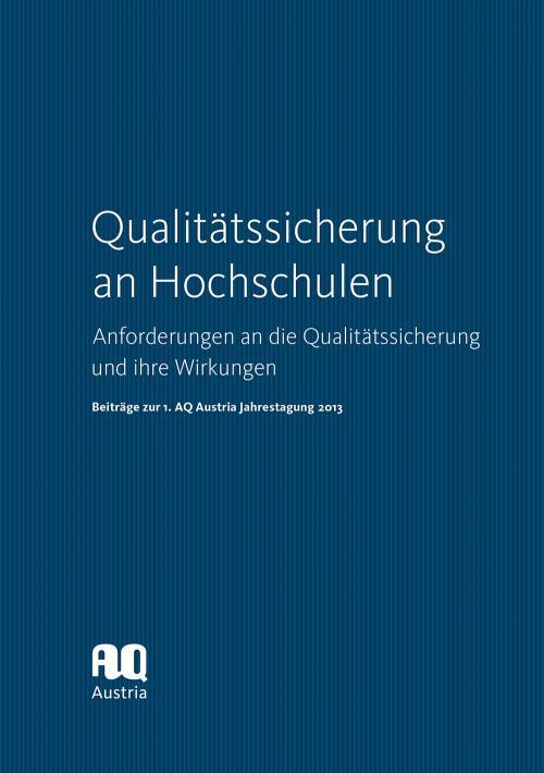 Qualitätssicherung an Hochschulen cover