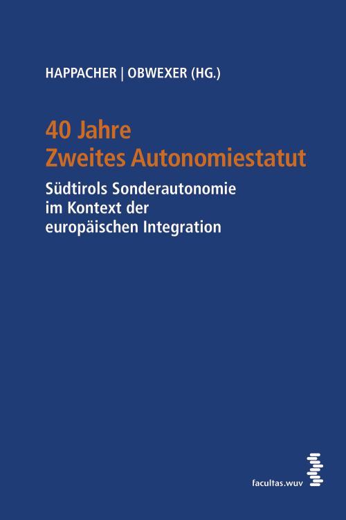40 Jahre Zweites Autonomiestatut cover