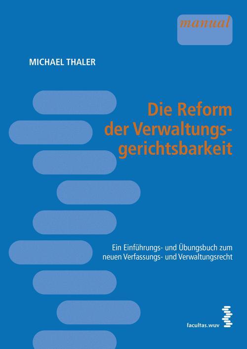 Die Reform der Verwaltungsgerichtsbarkeit cover