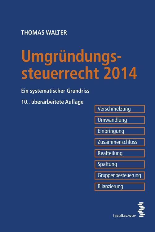 Umgründungssteuerrecht 2014 cover
