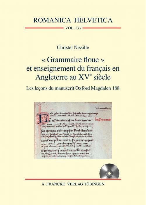 Grammaire floue et enseignement du français en Angleterre au XVe siècle cover