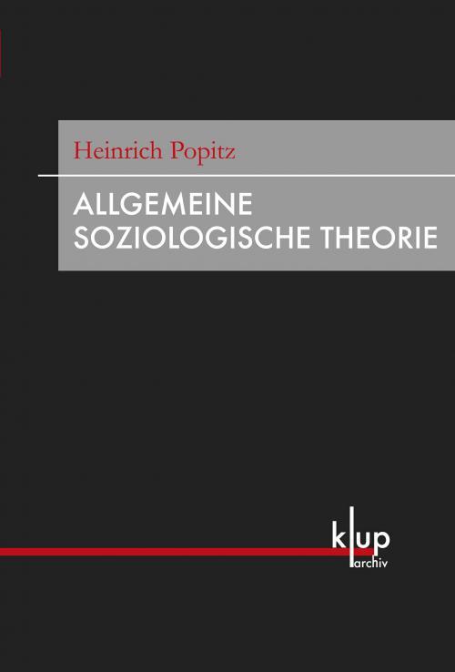 Allgemeine Soziologische Theorie cover
