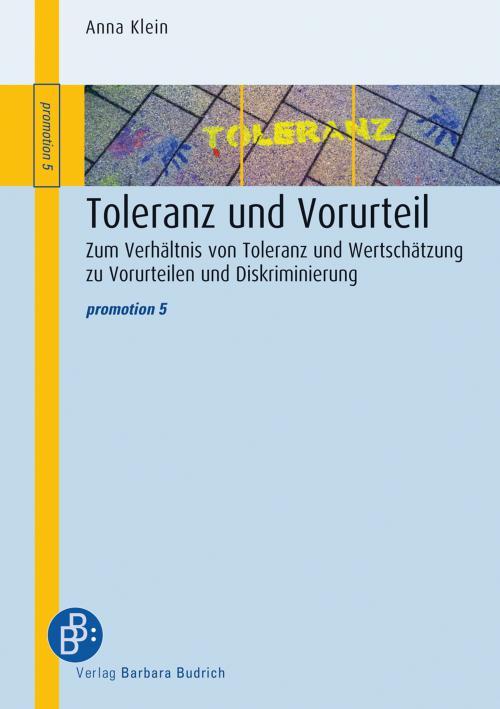 Toleranz und Vorurteil cover
