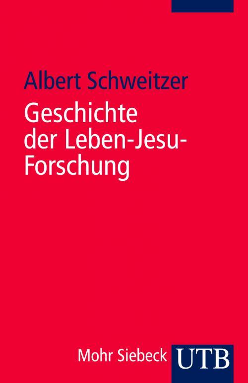 Geschichte der Leben-Jesu-Forschung cover