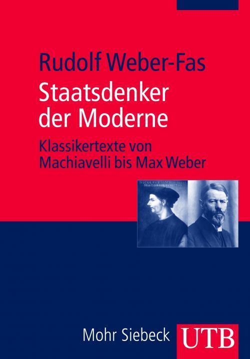 Staatsdenker der Moderne cover