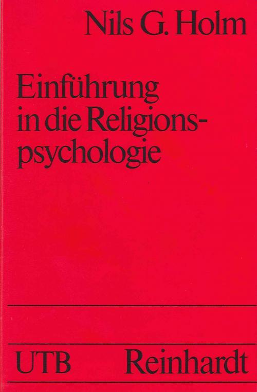 Religionspsychologie, Einführung in die cover
