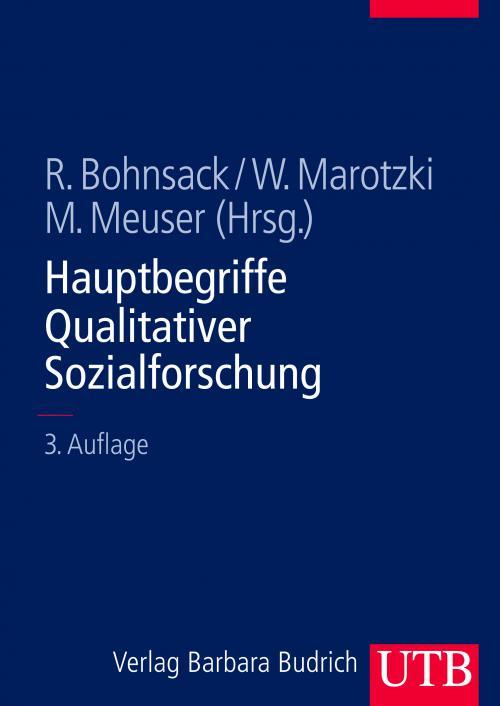 Hauptbegriffe Qualitativer Sozialforschung cover