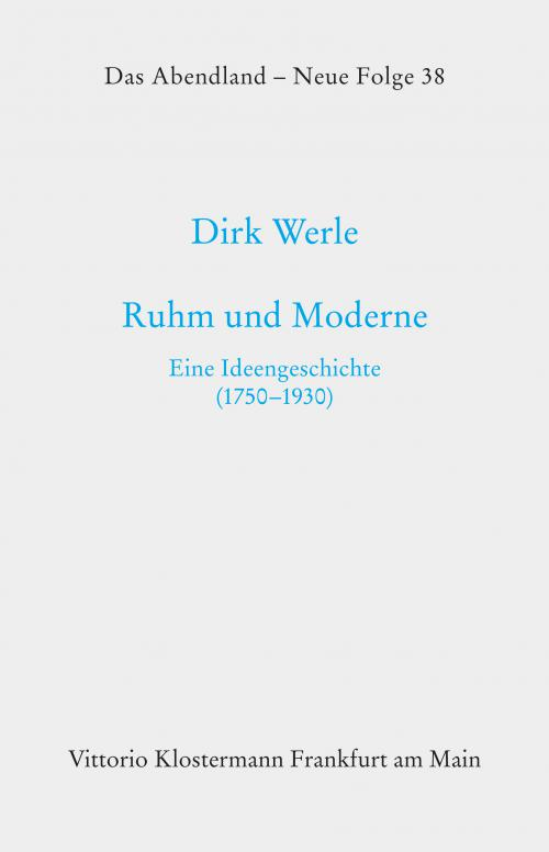 Ruhm und Moderne cover