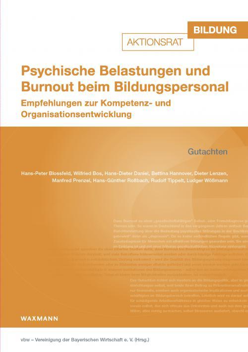 Psychische Belastungen und Burnout beim Bildungspersonal cover