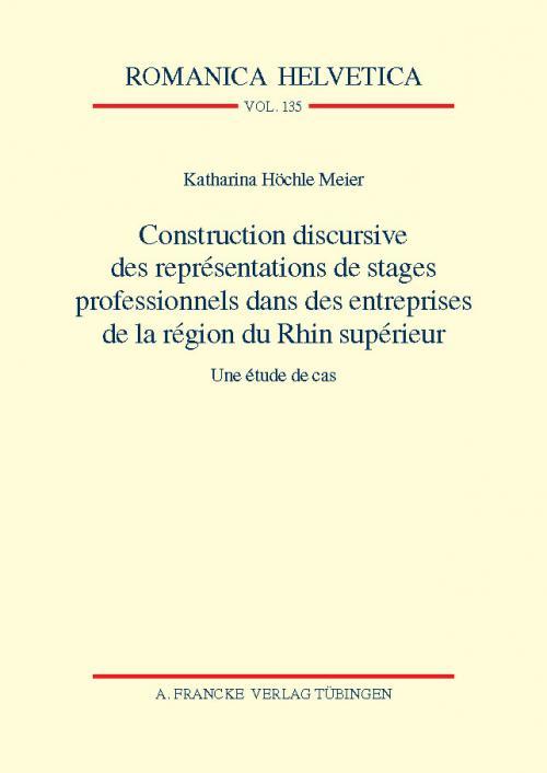 Construction discursive des représentations de stages professionnels dans des entreprises de la région du Rhin supérieur cover