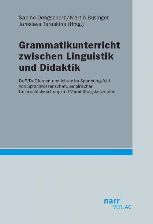 Grammatikunterricht zwischen Linguistik und Didaktik cover