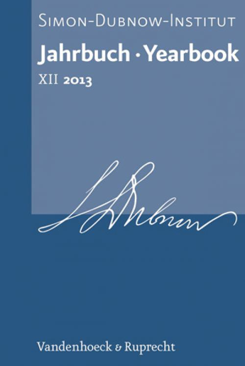 Jahrbuch des Simon-Dubnow-Instituts / Simon Dubnow Institute Yearbook XII/2013 cover