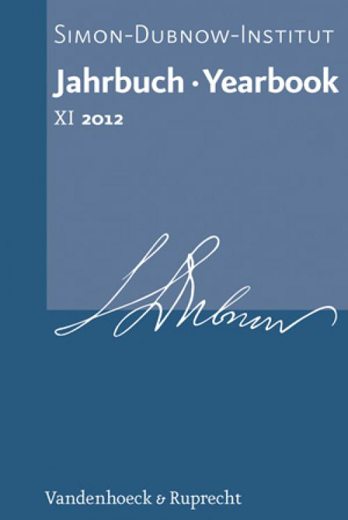 Jahrbuch des Simon-Dubnow-Instituts / Simon Dubnow Institute Yearbook XI (2012) cover