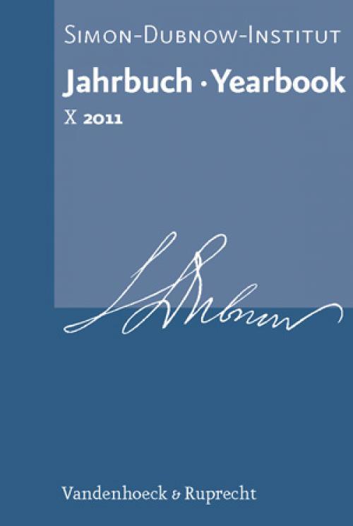 Jahrbuch des Simon-Dubnow-Instituts / Simon Dubnow Institute Yearbook X (2011) cover
