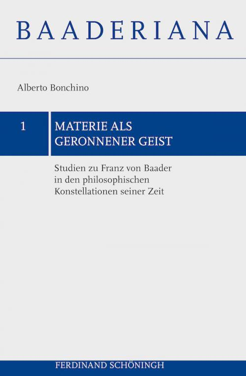 Materie als geronnener Geist cover