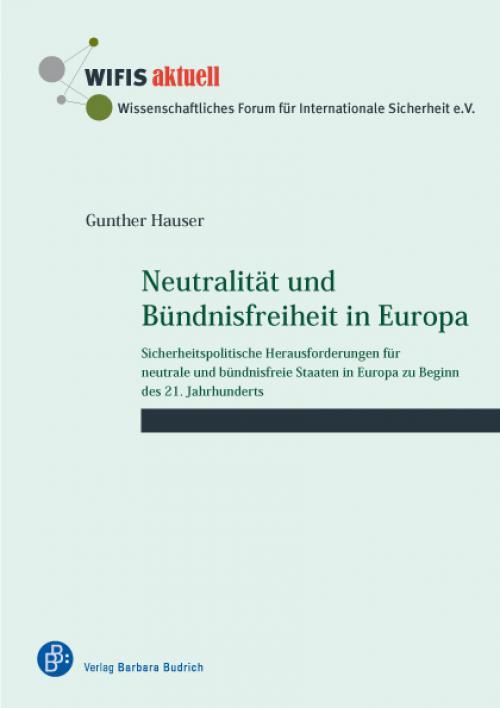 Neutralität und Bündnisfreiheit in Europa cover
