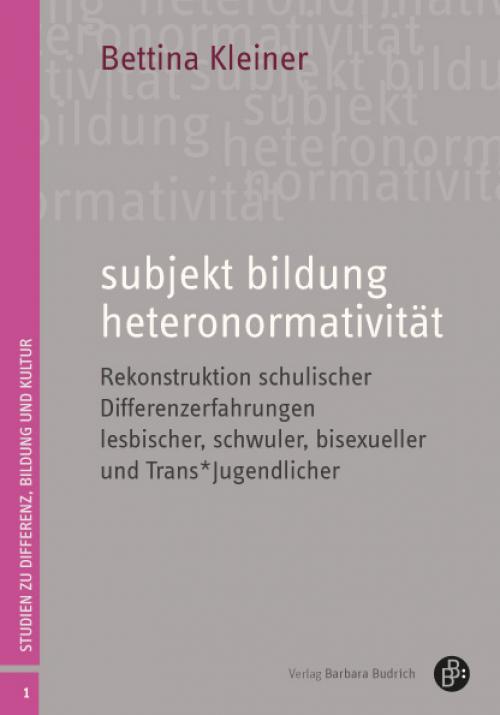 subjekt bildung heteronormativität cover