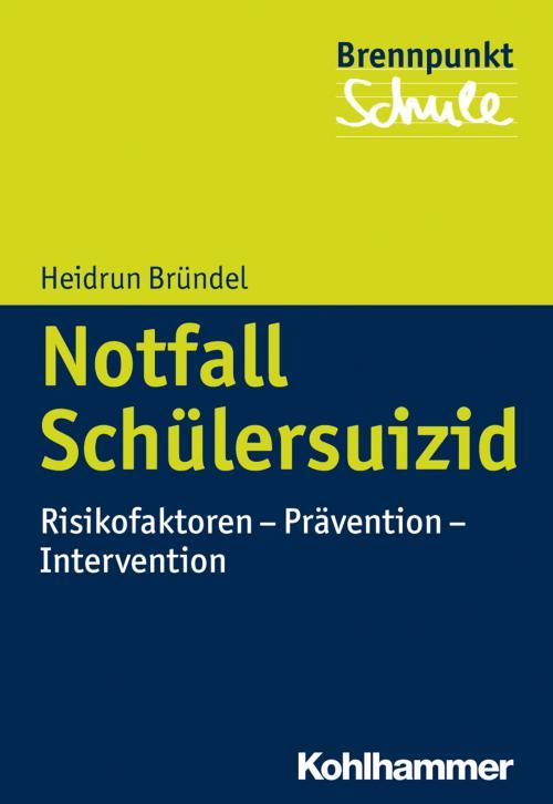 Notfall Schülersuizid cover