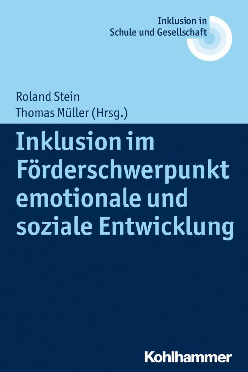 Inklusion im Förderschwerpunkt emotionale und soziale Entwicklung cover