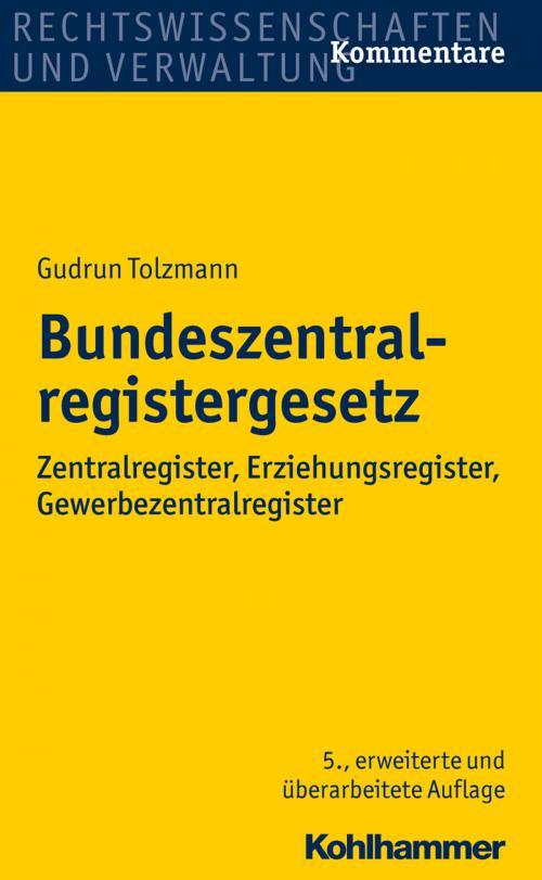 Bundeszentralregistergesetz cover