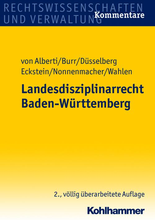Landesdisziplinarrecht Baden-Württemberg cover
