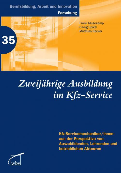 Zweijährige Berufsausbildung im Kfz-Service cover