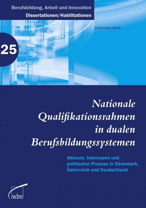Nationale Qualifikationsrahmen in dualen Berufsbildungssystemen cover