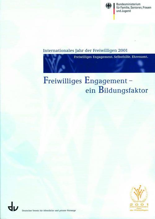 Freiwilliges Engagement  - ein Bildungsfaktor cover