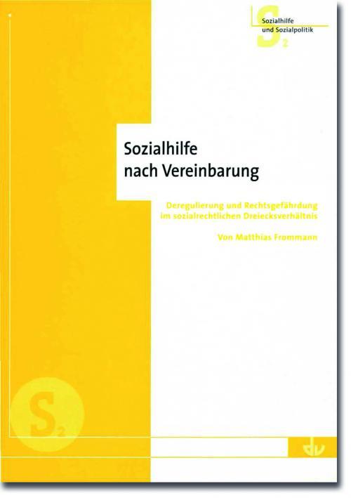 Sozialhilfe nach Vereinbarung cover
