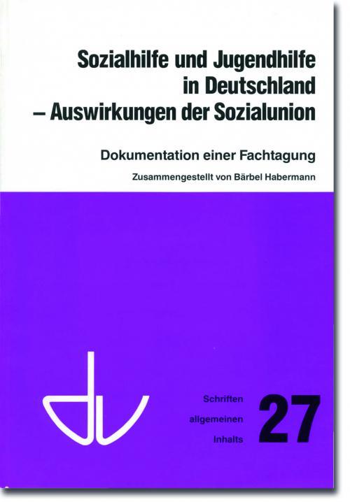 Sozialhilfe und Jugendhilfe in Deutschland - SAI 27 cover