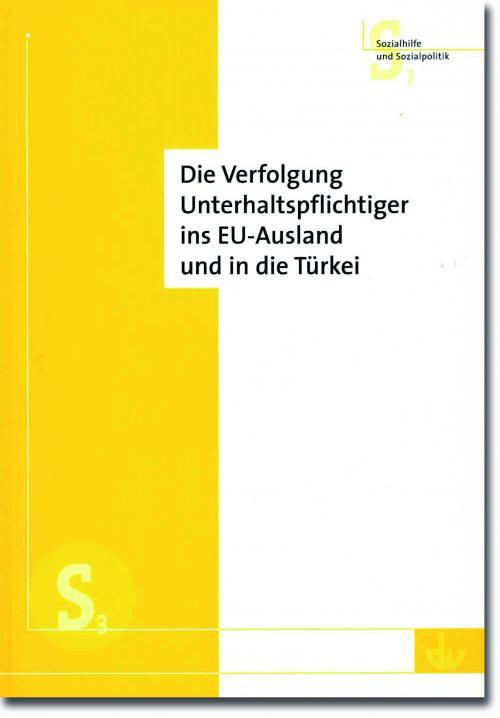 Die Verfolgung Unterhaltspflichtiger ins EU-Ausland und in die Türkei cover