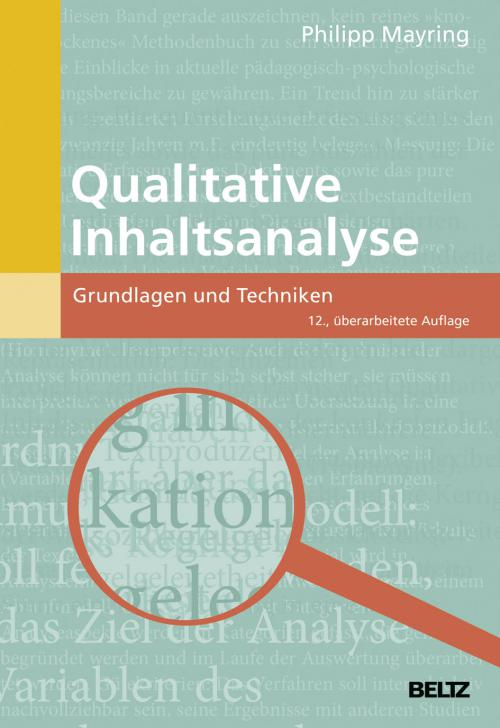 Qualitative Inhaltsanalyse cover