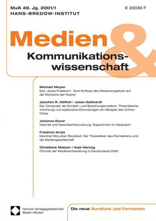 Chronik der Medienentwicklung in Deutschland 2000 cover
