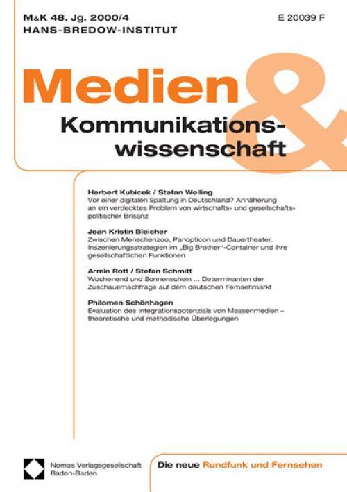 Klaus Meißner / Alexander Lorz / Reinhart Schmidt: Internet–Rundfunk. Anwendungen und Infrastruktur zur Verbreitung von Rundfunkprogrammen im Internet, Berlin 2000 cover