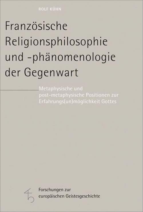 Französische Religionsphilosophie und -phänomenologie der Gegenwart cover