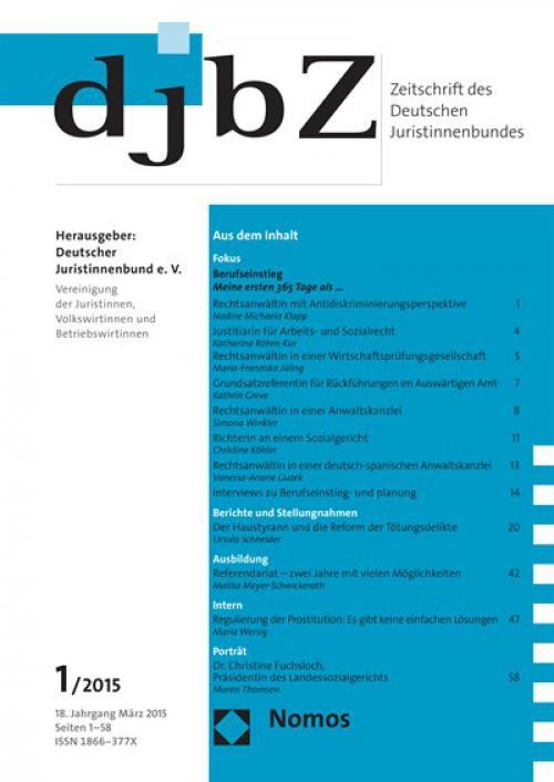 18.9.2014: Traditioneller djb-Empfang anlässlich des 70. Deutschen Juristentages – Begrüßungsrede cover