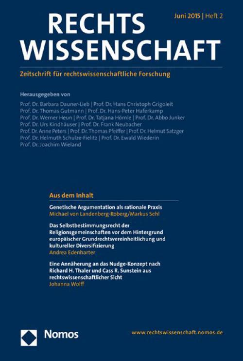 Eine Annäherung an das Nudge-Konzept nach Richard H. Thaler und Cass R. Sunstein aus rechtswissenschaftlicher Sicht cover