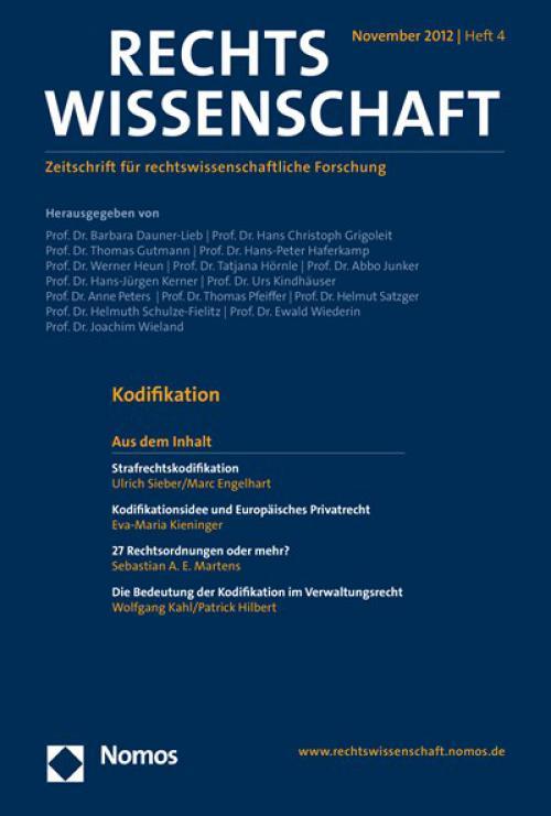 Die Bedeutung der Kodifikation im Verwaltungsrecht cover