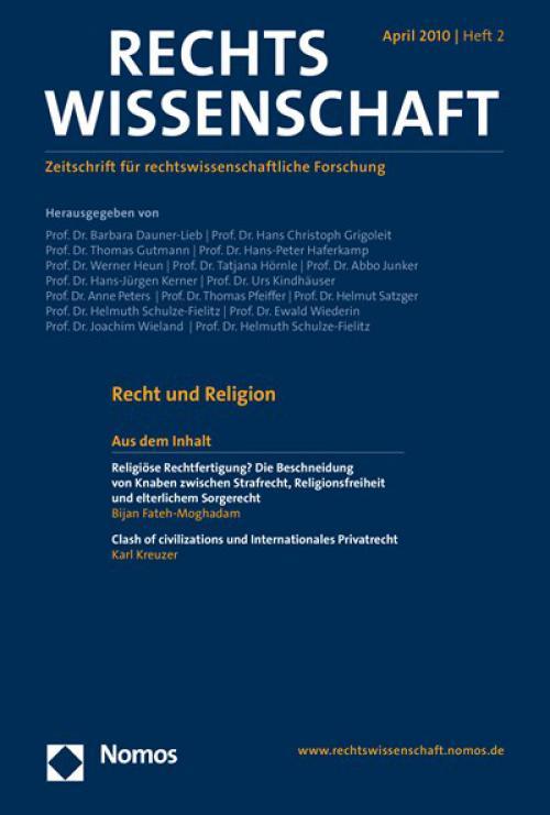 Transnationales Recht als Thema fragmentierter Rechtswissenschaft(en) cover