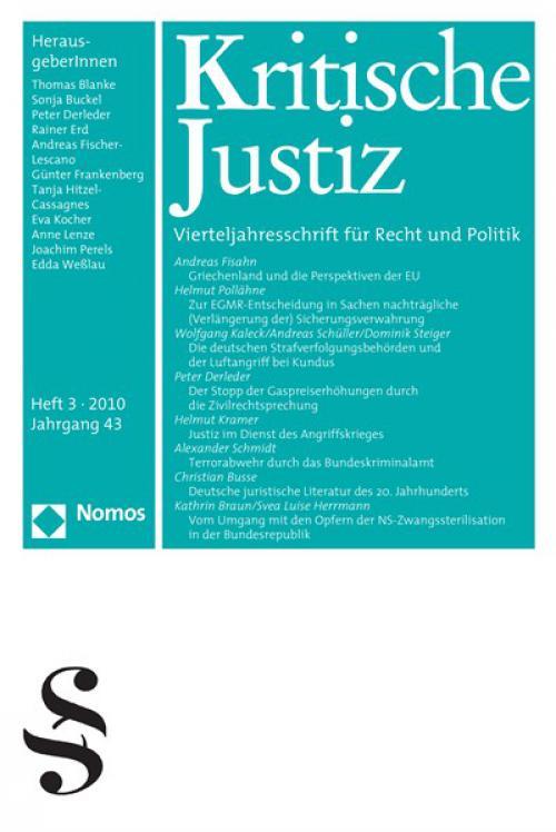 Europäische Rechtssicherheit gegen Deutsches Sicherheitsrecht? Zur EGMR-Entscheidung in Sachen nachträgliche (Verlängerung der) Sicherungsverwahrung cover