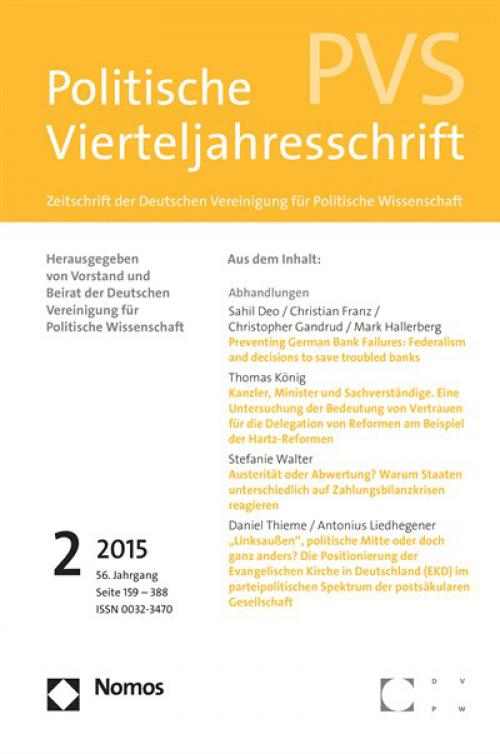"""Individual- und Kontextanalysen der Wahlentscheidung. Kritische Anmerkungen zu Kathrin Ackermanns und Richard Traunmüllers """"Jenseits von Schwerkraft und Höllenfeuer"""" in PVS 2014, 55: 33-66 cover"""