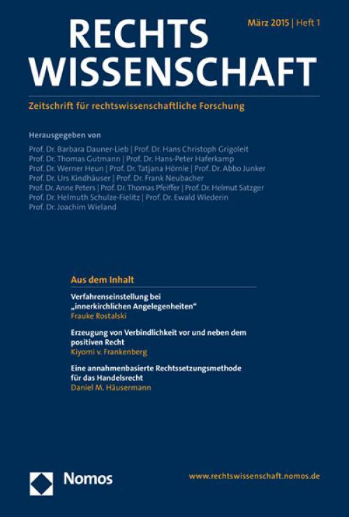Die Vereinigung der Deutschen Staatsrechtslehrer cover